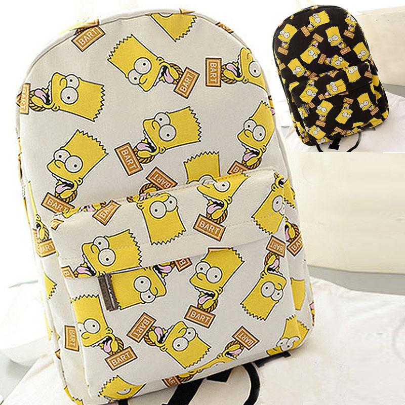 Fashion Cartoon Versatile Womens Backpack Simpson Print Bag Canvas Men Backpack Travel Bags Mochila Masculina 2015 New<br><br>Aliexpress