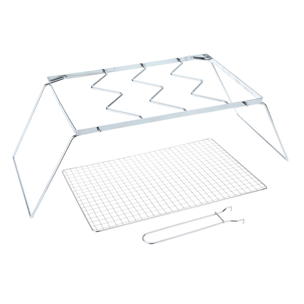 New Outdoor Camping BBQ Grills Portable Folding Stainless Steel BBQ Grills Wire Mesh Detachable Barbecue Grill Net(China (Mainland))