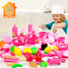 MiniTudou Classic Cooking Toys For Children 46PCS Pretend Play Cutting Food Set Kids Kitchen Toys(China (Mainland))