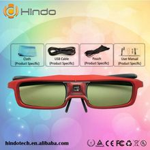 Hot selling cheap 3D glasses 144HZ IR active shutter glasses for DLP LINK projector red(China (Mainland))