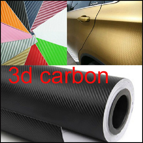 "60cm x152cm 23.6""x60"" 3D Car Carbon Fibre sticker Vinyl Sheet Carbon Phone Sticker For All Car Waterproof Color Choose"