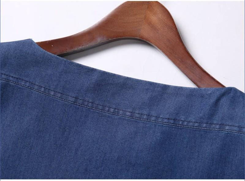 ผู้หญิงDernimชุด2016แฟชั่นใหม่สไตล์เฉือนSeckแขนสั้นวินเทจปักกระเป๋าหลวมชุดมินิVestidos ถูก