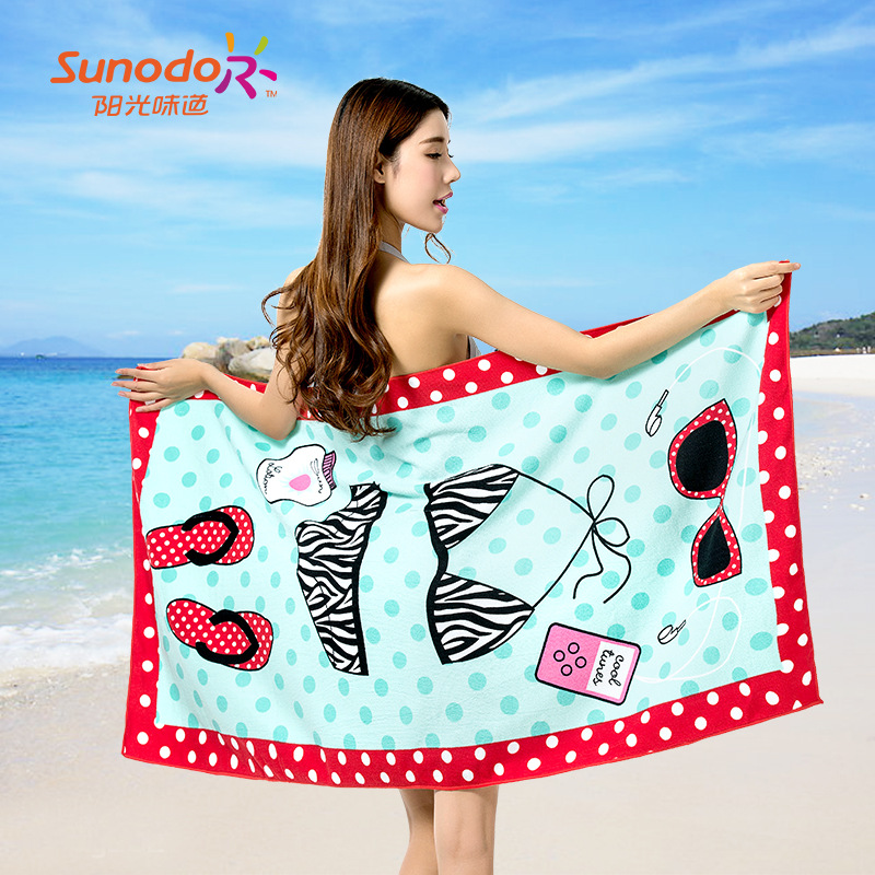 A polyester fiber polyester towel pattern number beach towel(China (Mainland))