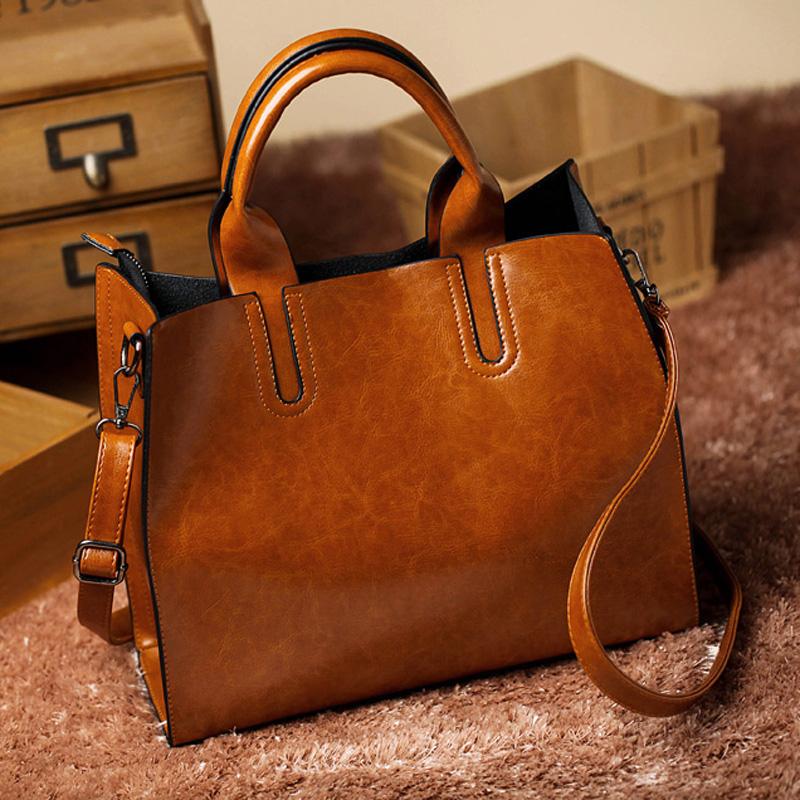 leather bags luxury handbag women famous designer brands women ladies hand bag bolsos sac a main - Sac A Main Color