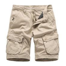 Granatowy męskie spodenki Cargo Brand New armii wojskowe taktyczne szorty męskie bawełniane luźne pracy dorywczo krótkie spodnie Drop Shipping(China)