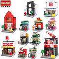 HSANHE Street of delicacies blocks ego legoe star wars duplo lepin toys stickers playmobil castle starwars