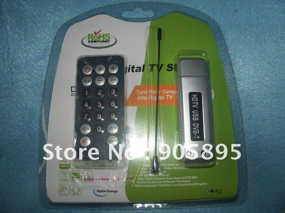 USB 2.0 DVB-T Digital TV HDTV Tuner Receiver Free shipping(China (Mainland))
