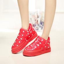 Las mujeres de invierno botas de nieve caliente planos y zapatos impermeables botas de invierno Más El tamaño de Invierno para las mujeres UPB947(China (Mainland))