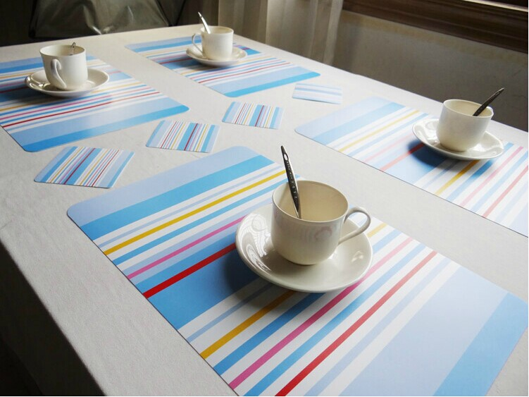 2015 Manteles Individuales 7 Style Multi Color 4pcs Pvc Dining Table Placemat Set Coaster Bowl Pad Mat Waterproof Slip-resistant(China (Mainland))