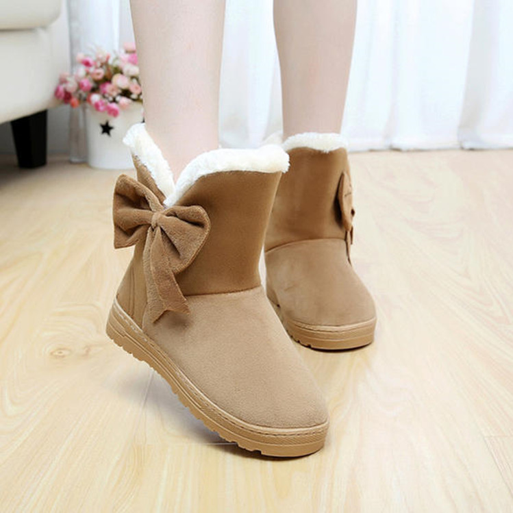 2016 Women Boots Snow shoes Warm shoes Winter shoes Botas Mujer Fur Ankle Boots Ladies Winter Shoes woman botas feminina(China (Mainland))