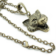 Buy 2016 New Hot Free Movie Film Jewelry Punk Wolf Pendant Wolf Head Necklace for $1.25 in AliExpress store