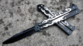 Stainless Steel butterfly Training Knife folding knife butterfly balisong knife Trainer safe no edge dull tool
