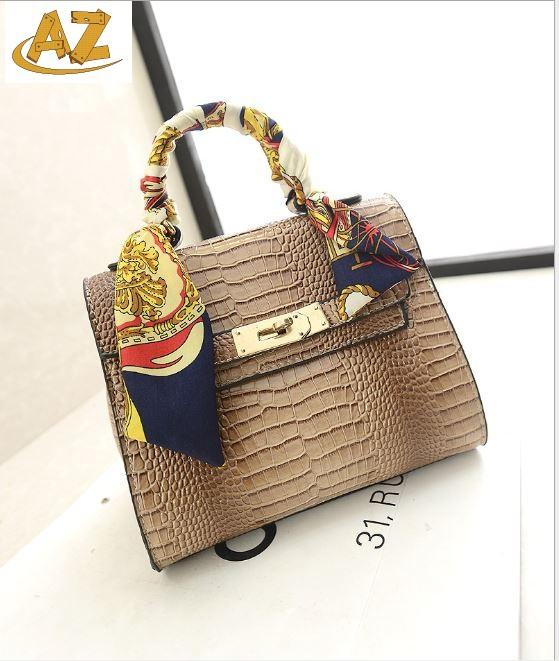 mini tote bag lady Alligator hand scarf signle shoulder  -  Shenzhen AZ trading Co., Ltd store