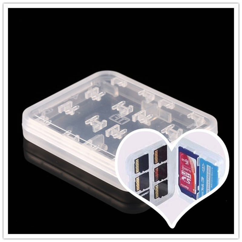 New 8 in 1 Plastic Case For Micro SD TF Memory Card Storage Holder Box Protector(China (Mainland))