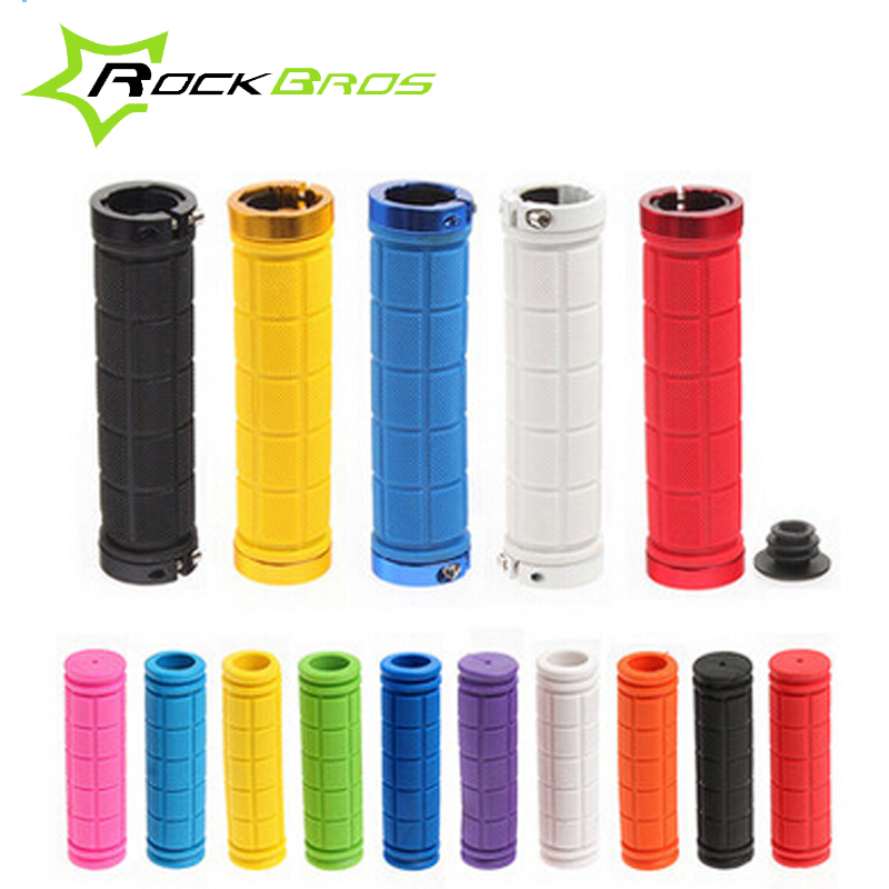 RockBros Bicycle Grips Rubber Retro MTB Mountain Bike Handlebar Grips Downhill Cycle Cycling handle Lock Grip Parts Accessoriess(China (Mainland))