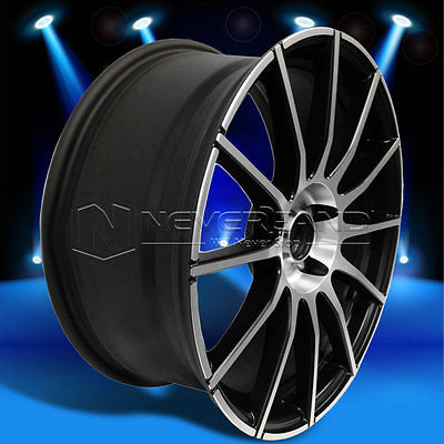 New 18''x8''Car Alloy Wheels Rim Matte Black W/Machine Face for Volkswagen GOLF GTI JETTA PASSAT USA Stock Free Shipping(China (Mainland))