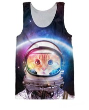Sport Tanks Summer style Space Cat kitty Tank Top spaceman galaxy Basketball Vest Sport Jersey tops for women men free shipping(China (Mainland))