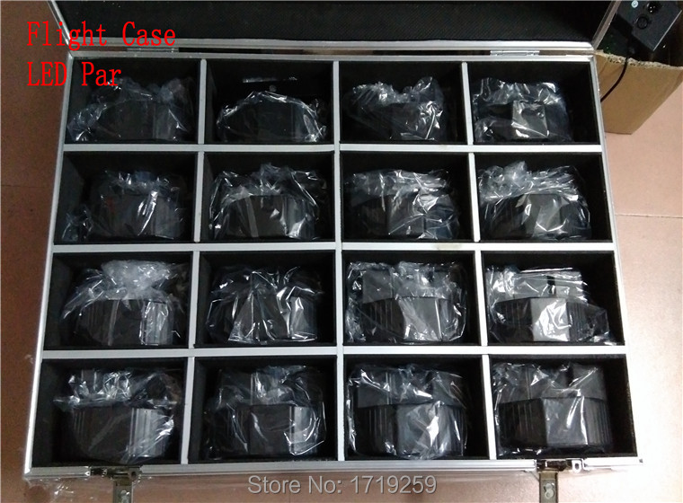 Flight Case with 16PCS/LOT LED Flat Par Lights SlimPar Quad 7x 12W RGBW LED Stage Wash Par Light Uplighting<br><br>Aliexpress