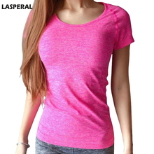 LASPERAL Women Sports T Shirt Short Sleeves Hygroscopic Quick Dry Fitness Gym T-shirt For Running Women Top Clothes Jogging Tees(China (Mainland))