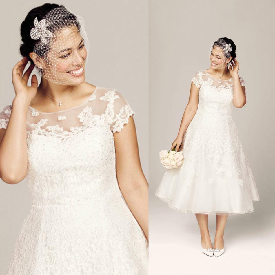V2015 new classic wedding dresses beach plus size bridal for Plus size wedding dresses beach