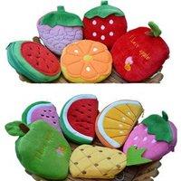 50pcs/lot lint coin purse , cartoon purse , Women key case ,cell phone bags ,Fruits Shape