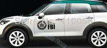 Freeshipping and discount Car sticker USA federal bureau investigation sign of reflective car stickers(China (Mainland))