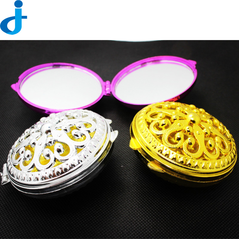 Vintage Gift Hand Mirrors Pocket Mirror Mini Portable Compact Mirrors Girl Double Side Folded Hollow Out