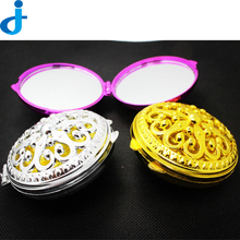 Vintage Gift Hand Mirrors Pocket Mirror Mini Portable Compact Mirrors Girl Double-Side Folded Hollow Out Makeup Mirror 2HT16