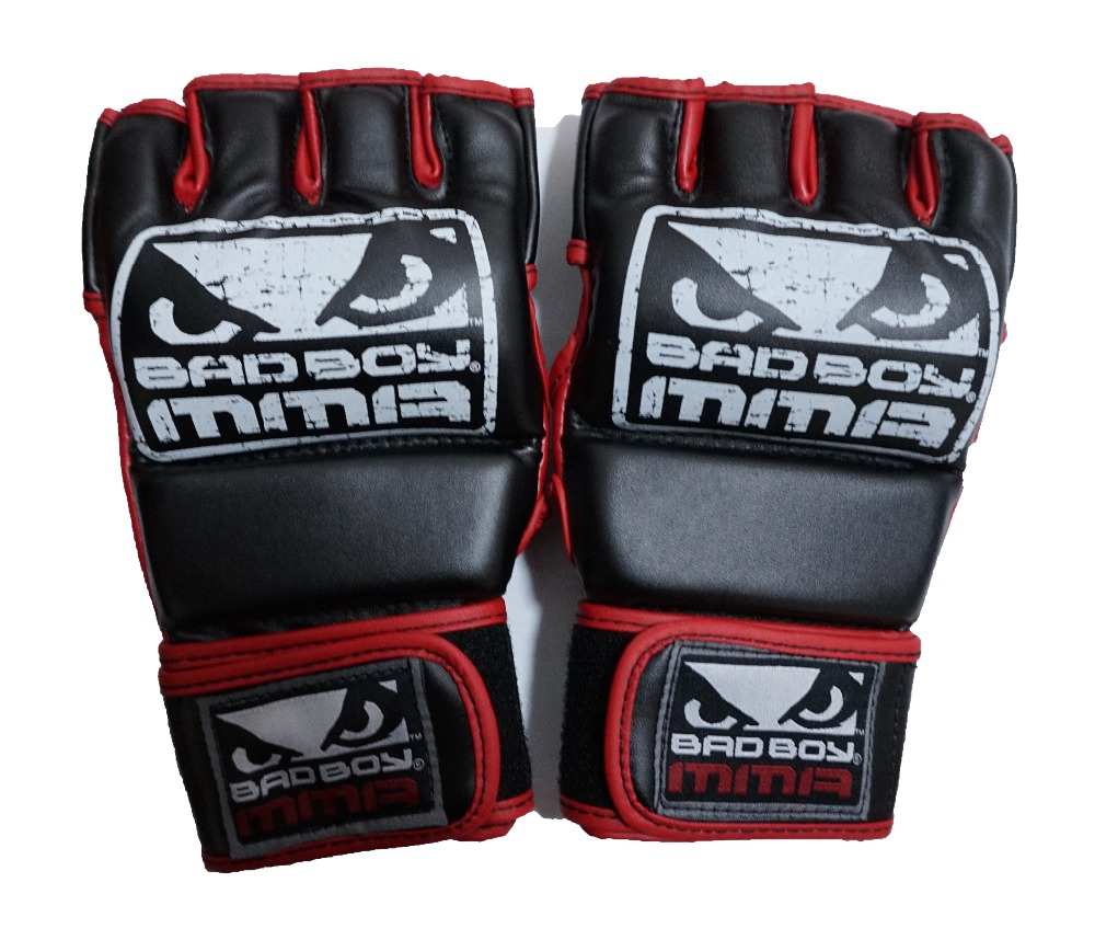 Leather Half Finger MMA Boxing Gloves Finger gloves boxing MMA Muay Thai boxing gloves training and competition Free shopping<br><br>Aliexpress