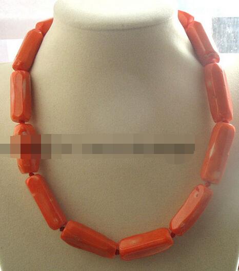 xiuli 003523 coral pillar orange 30-35mm necklace (c0323)(China (Mainland))
