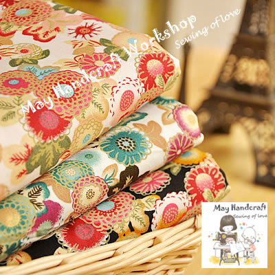 Japanese Style Fabric Floral Printed Cotton Poplin Fabrics for Sewing Textile Tissue Cloth Flowers Patchwork 50X74cm 6Pcs/Lot(China (Mainland))