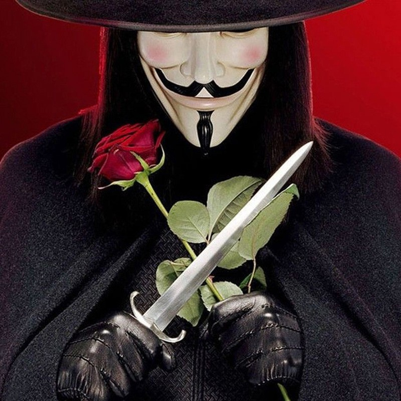 Hot Sale V for Vendetta Mask Guy Fawkes Anonymous Halloween Masks fancy dress costume superhero party masks YW3A-90_7