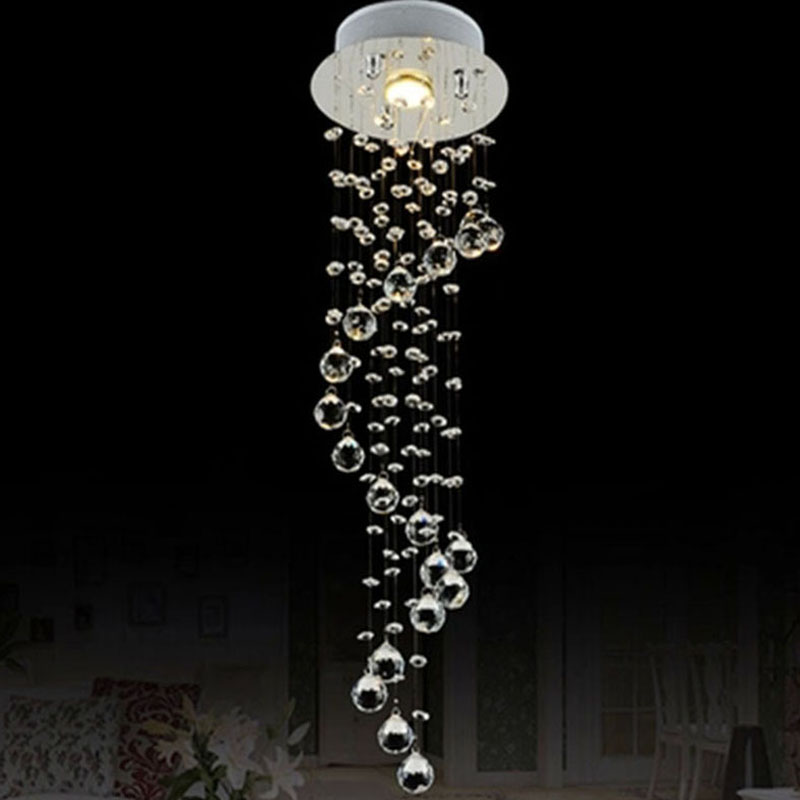 Mini Crystal Pendant Light Lamp Fixtures For Staircase Dining Room Bar with AC110 to 240V VALLKIN(China (Mainland))