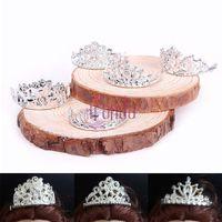 10pcs /set Girls Crystal Plastic Sliver Crown Headband Headwear Accessories for Barbie Doll Toys #68458