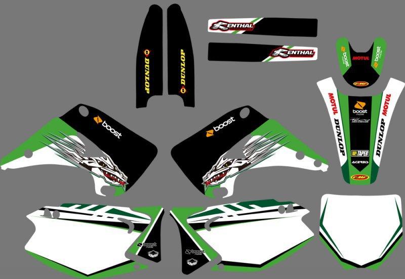 Наклейки для мотоцикла OEM 0075 & KX125 KX250 2003 2004 05 06 07 08 09 10 11