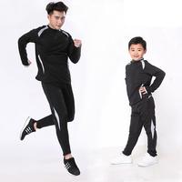 15 16 Men Kids Soccer Training Tracksuits Sportswear Men Skinny Leg Pants Kids Sport Running Football Set Long Jacket Pants Suit