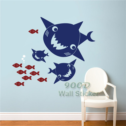 Buy Wall Stickers Wall Decals Cartoon Fish Home Decoration Pvc Home Decor Diy
