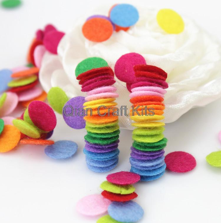 Set of 2000pcs mixed color 10mm cute mini  Felt pack circle shape scrapbooking  applique baby shower supplies die cut DIY by0170<br><br>Aliexpress