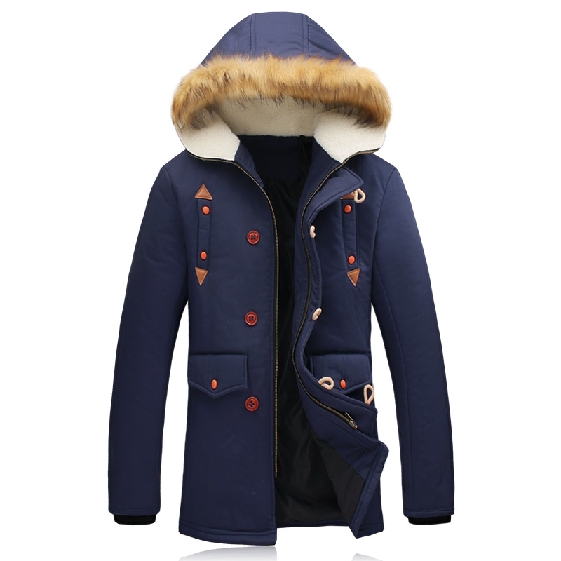 2015 winter mens long jacket thick warm parka men famous brand fashion male casual coat hooded plus size M-5XL high quality