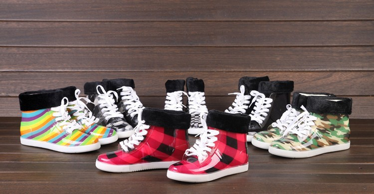 Spring and autumn summer female boots rain shoes martin rainboots transparent waterproof