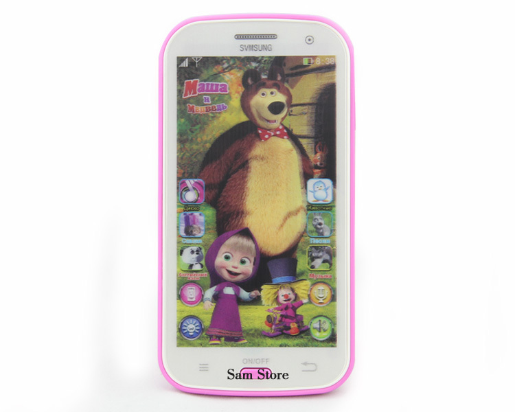 Talking Masha and Bear dolls Samsung Learning & education Russian Language Baby doll Electronic Classic kid's Toy phone No Box(China (Mainland))