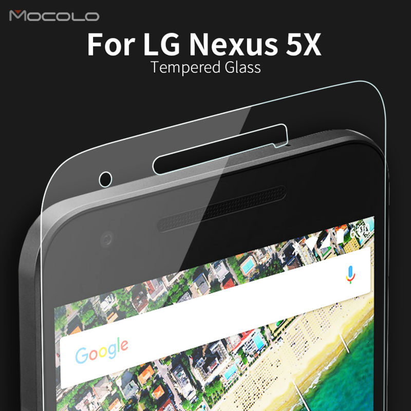 Latest New 2016 Mocolo Premium Tempered Glass Screen Protector for LG Nexus 5X 5.2'' Screen Protective Film Dropshipping(China (Mainland))