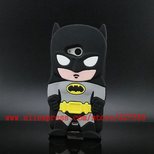 For Nokia Lumia 535 Case 3D Cartoon Silicone Super Hero Batman Cell Phone Cases Cover For Microsoft Lumia 535(China (Mainland))