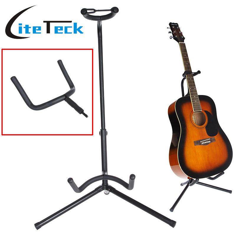 Guitar Stand Tubular Acoustic Guitar Stand Folding Tripod Holder Padded Storage Rack(China (Mainland))