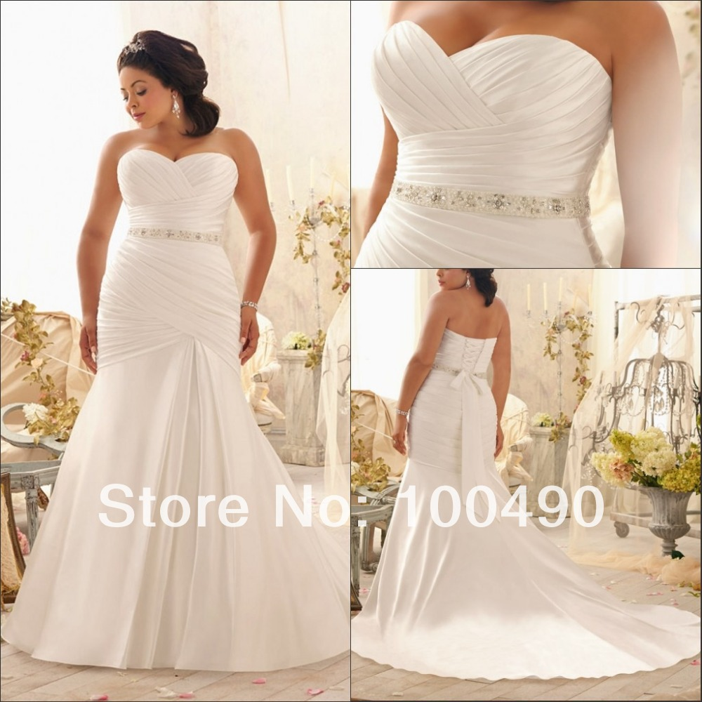 Russian and brazilian plus size bridal dresses for full for Full size wedding dresses