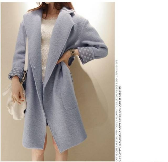 Hot! 2015 New Korea Brand Women Fahsion Full Coat Long Style Wool Trench/Blends S/M/L/XL - Kuta Co., Ltd. store