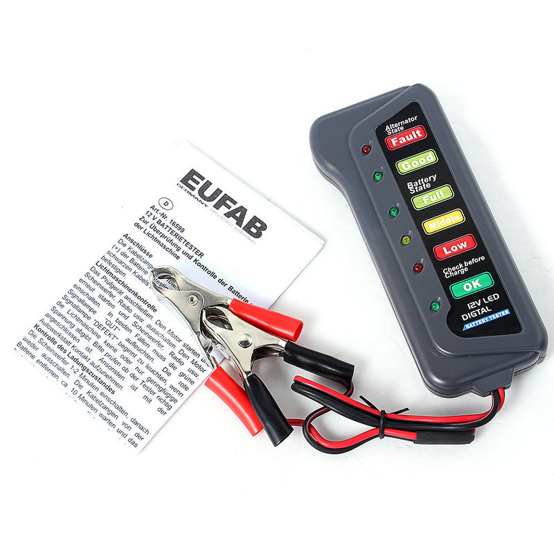 Electronic Tester Showing Failure Lights : New promotion v led digital battery indicates condition