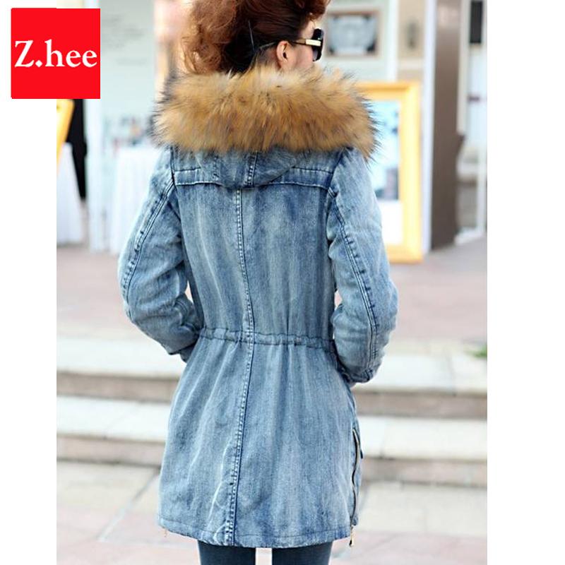 Womens denim winter coat – Novelties of modern fashion photo blog