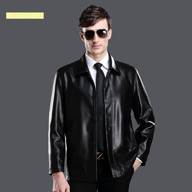 The new winter 2015 middle aged men 39 s leather jackets high for High end men s shirts