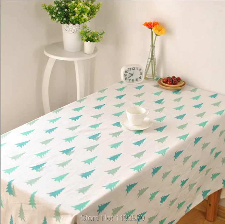 New Design Tree Cotton And Linen Tablecloth Home Textile Restaurant Kitchen Party Decorative Cloth Table Cover 1019ZB(China (Mainland))